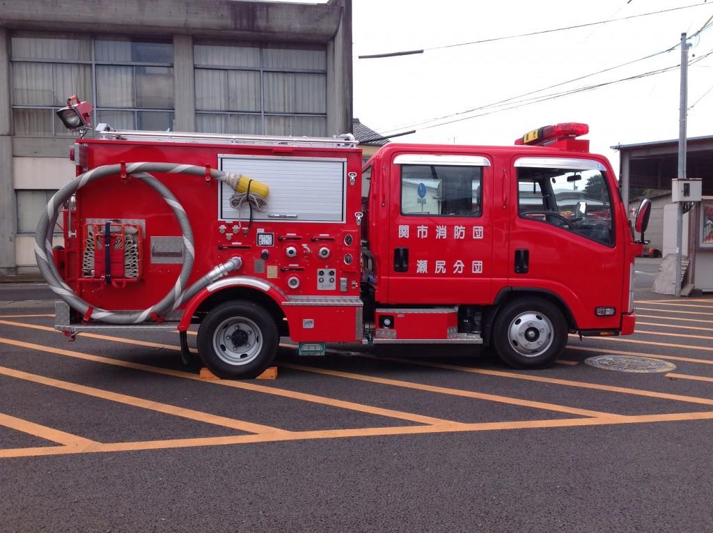 消防車両です。